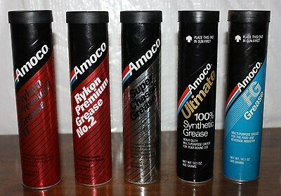 5 Different Amoco Grease Tubes