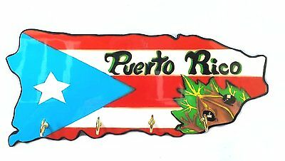 Puerto Rico Home Decorative Souvenirs Keychain Wall Holder KEY Rican COQUI