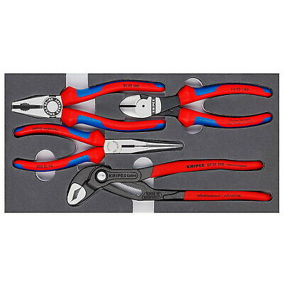 Knipex 00 20 01 V01 4-Piece Basic Pliers Set Made in Germany 002001V01