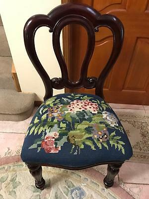 "Antique Balloon ""admiral"" Back Mahogany Chair Newly Upholstered...no 2"