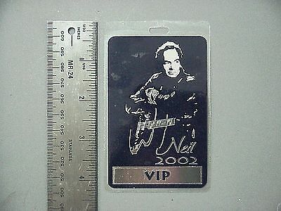 Neil Diamond backstage pass Laminated Authentic 2002 All Access Beautiful Silver