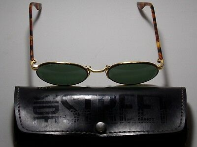 VINTAGE B&L RAY BAN SUNGLASSES W2188 from 1990 NOAS GOLD PLATED SIDESTREET Nice!