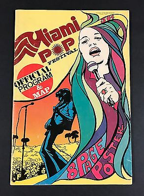 1968 Miami Pop Festival Program Comic Book Grateful Dead Fleetwood Mac RARE!