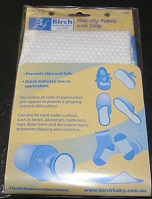 Non Slip FabricWhite Grip Safe Tread Slippers Socks Baby Shoes Bootee Sew Craft