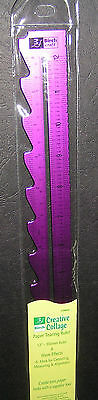 "12"" Ruler Pattern Edge Purple Anodised Metal Birch Scrapbooking Craft Draw Wave"
