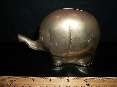 Brass Elephant Coin Bank for Table Top All Metal