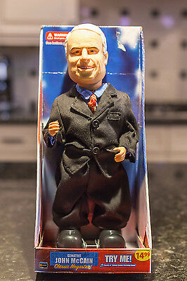 "Senator John McCain Classic Megastar -15"" Doll Sings and dances -NEW in Box"
