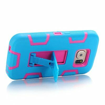 Covdo Blue/Hot Pink Shockproof COMBO Cover & Holster Case For Samsung Galaxy S7