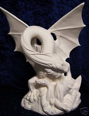 Ceramic Ready to paint Mother Dragon & Babies