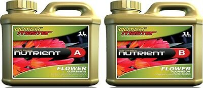 DUTCH MASTER DM GOLD AB BLOOM 2x1 LITRE HYDROPONIC NUTRIENT FOR ALL MEDIA