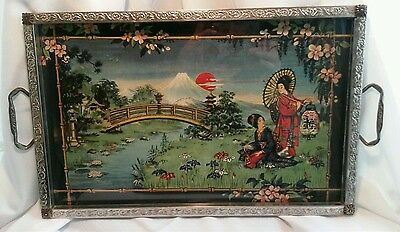 International Tray Co. Decorative Antique Asian Serving Tray New York Ghesia
