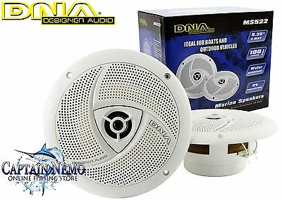 "Dna Marine Speakers 5.25"" 2 Way 100W Marine Boat Outdoor Stereo Speaker Ms522"