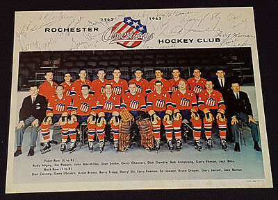 1962/63 - Rochester Americans - Ahl - Team - Autographs (16) - Hockey - Photos