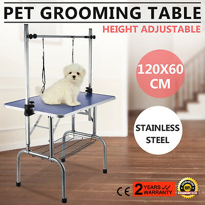 120cm Foldable Dog Cat Pet Grooming Table Pet Washing Professional Vinyl Mat