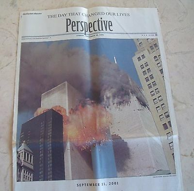 Twin Towers Attack New York City Charlotte Observer 9-16-2001 Newspaper Original