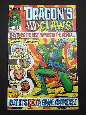 Dragon's Claws #1, #2 1988 Lot of 2 NM High Grade Marvel UK Books