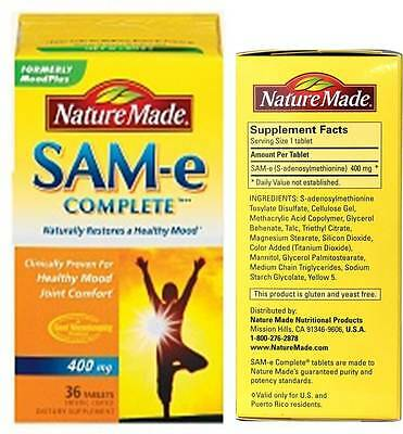 Nature Made SAM-e Double Strength 400 mg, 36 Coated Tablets