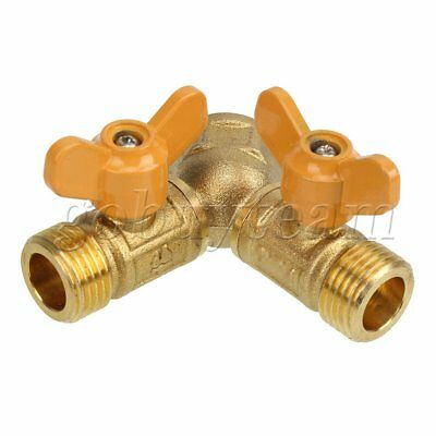 2 WAY Gas Pipe Connector Splitter Solid Brass Y Piece Joiner Connector