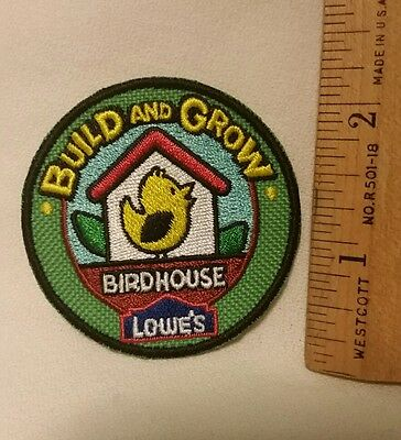 Scout Scouting Badge Patch Lowe's Build and Grow Birdhouse