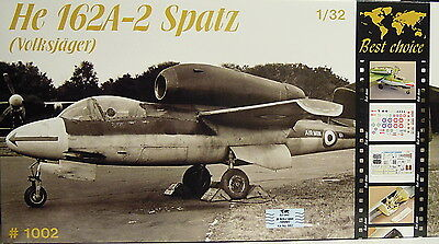 "He 162 A-2 ""Spatz"" , 1:32 , Plastic model kit , Best Choice , NEU"