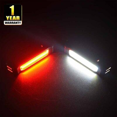 LED Bicycle Bike Cycling Front Rear Tail Light Rechargeable 6 Modes Wide Beam AU