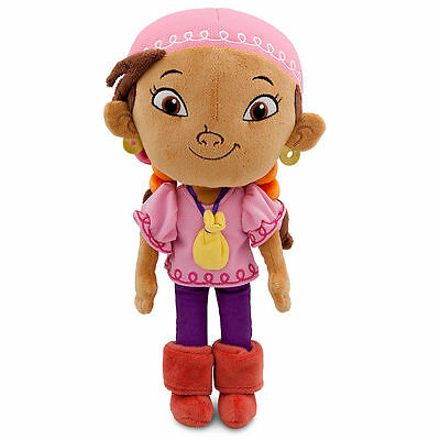 "Disney Store Authentic Jake & the Never Land Pirates Izzy Plush Toy Doll 11"" NWT"