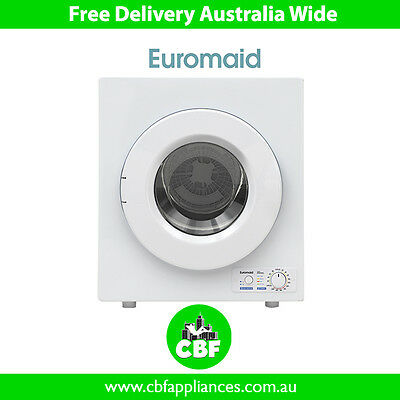 Euromaid DM4KG 4 KG Vented Clothes Dryer Drying Front Load White Wall/Floor Dry