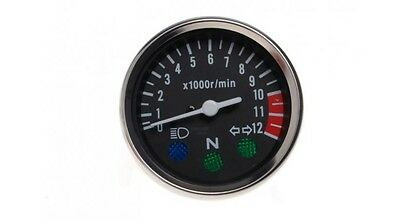 New Rev Counter tachometer Black&Chrome for Suzuki GN 125 GN125 revcounter tacho