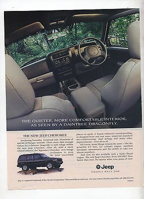 Jeep Cherokee Original Advertisement removed from a Magazine