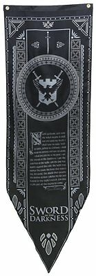 Game of Thrones- Nights Watch Tournament Banner Fabric Poster 19 x 60in