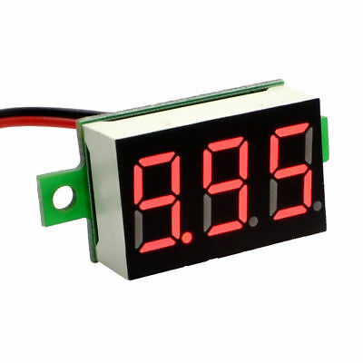 "10X Digital DC 4-32V 2 Wire 0.36"" 3 Bit Red LED Voltmeter with Reverse Protectio"