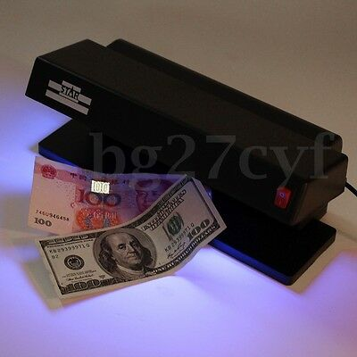 220V UV LED Light Forgery Dummy Money BankNote Detector Checker For Counterfeit