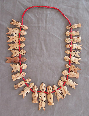 Old Tribal Anthropomorphic LEGA Necklace - CONGO - early 1900