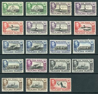 Falkand Islands KGI 1938 Series MNH & MM. Unchecked for Shades