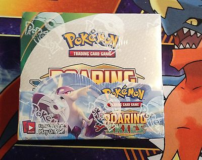 Pokemon XY Roaring Skies Booster Box 36 Packs *Factory Sealed* FREE POST Cards