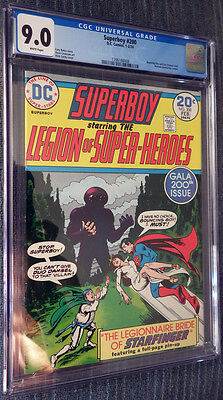 Superboy #200 CGC 9.0 White Pages Legion of Super-Heroes! Wedding issue! Cockrum