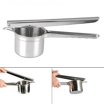 Professional Steel Stainless Mash Potato Ricer Masher Fruit Press New