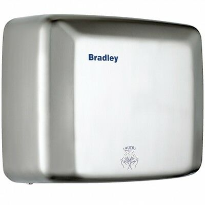 Bradley Vandal Safe Hand Dryer with Touch Free Activation - Satined Steel