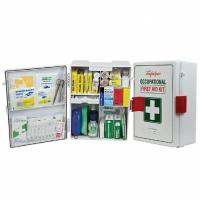 Brady First Aid Kit National Workplace Wall Mounted Case from ABS Plastic- White