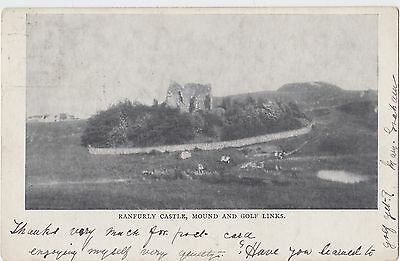 Ranfurly Castle Mound and Golf Links 1902 Monochrome Posted Postcard