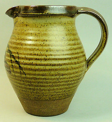 STYLISH DAVID LEACH 1960's LOWERDOWN STUDIO POTTERY FOX GLOVE JUG