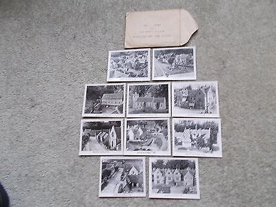 Bourton On The Water Model Village - Ten Views - 1940S/50S? Good Condition