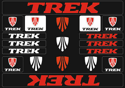 Trek Mountain  Bicycle Frame Decals Stickers Graphic Adhesive Set Vinyl Red