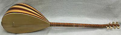 Turkish Long Neck Mahogany Baglama Saz For Sale