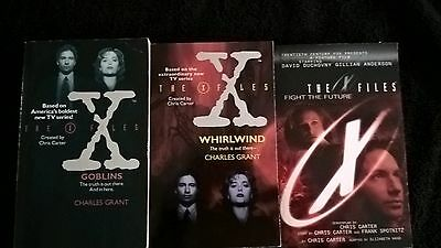 The X Files Paperbacks – 3 Books: Fight the Future, Whirlwind and Goblins