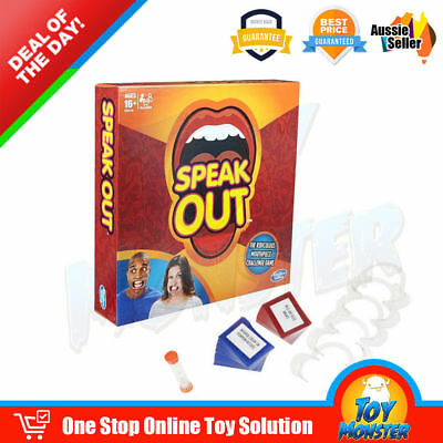 Lastest Speak Out Funny Mouthguard Challenge Party Board Game Xmas Gift Toy New