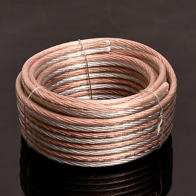 Lot Parallel Speaker Wire Cable OFC Gold Silver 8 10 12 14 16 18 20 22 24 Gauge