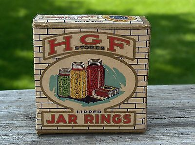 RARE 1929 H.D. Lee MERCANTILE Boxed FRUIT Jar RINGS Nice GRAPHICS K.C. Missouri