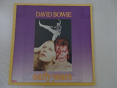 DAVID BOWIE - EARLY YEARS - RARE THREE LPs VINYL BOX SET RECORDS