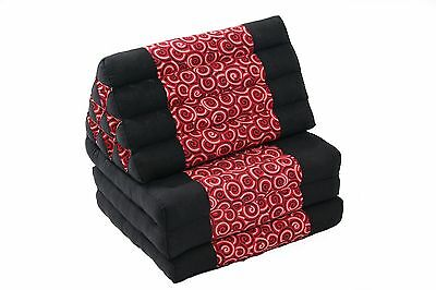 Thai 3-fold mat triangle cushion kapok filled chill daybed cotton design red